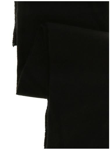 Koton Koton Düz Püsküllü Atkı Siyah